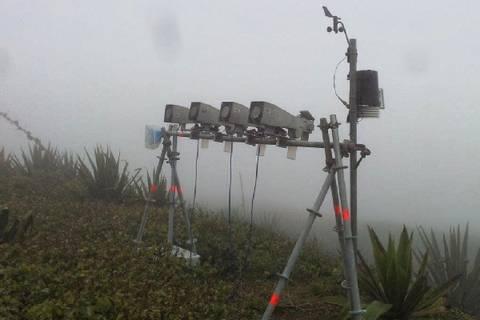 Wolkenwassersammler auf dem Monte Verde . Foto: TROPOS