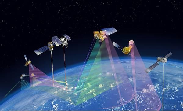 A-Train-Satelliten.  Image credit: NASA