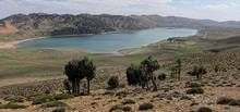 The Lake Sidi Ali is located in the Moroccan Middle Atlas at 2.080 metres above sea-level. The position of the lake is in the North Saharan desert margin (Photo by Sidi Ali dust research group)