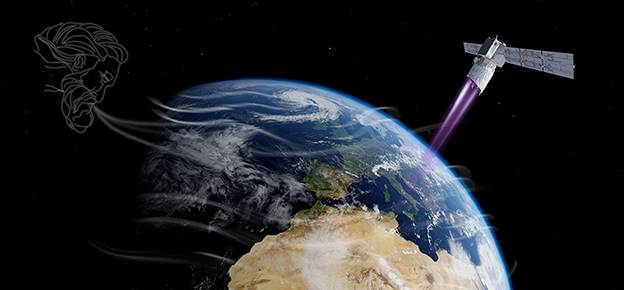 Launch of the new ESA wind satellite postponed by 24 hours due to high winds. Live broadcast of the start on 22.08.2018 from 23:00 CEST. (Graphic: ESA/ATG medialab)