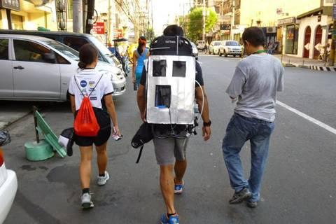 19.05.15: Mobile Messungen während des Marsches