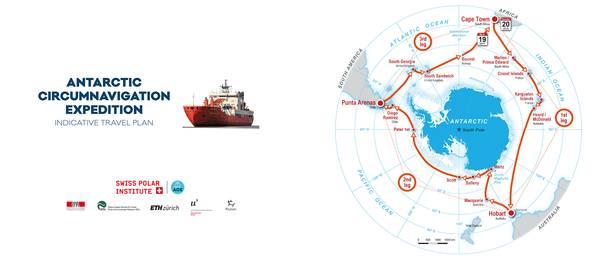 Route der Antarctic Circumnavigation Expedition (ACE). Quelle: ACE