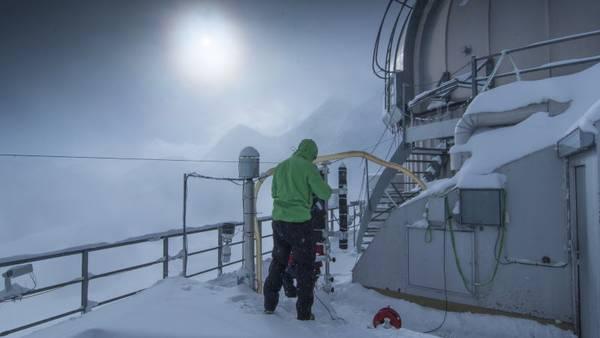 Messkampagne INUIT-JFJ auf dem Jungfraujoch in der Schweiz. Foto: Tilo Arnhold, TROPOS