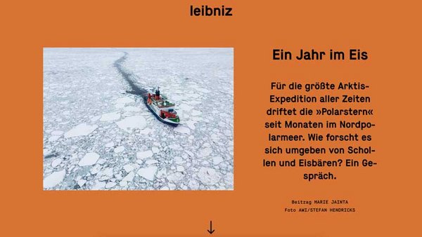 Source: Leibniz-Gemeinschaft / Photo: Stefan Hendricks, AWI