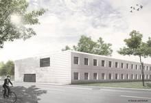 Neues Laborgebäude 23.6 des TROPOS. Quelle: © Schulz und Schulz