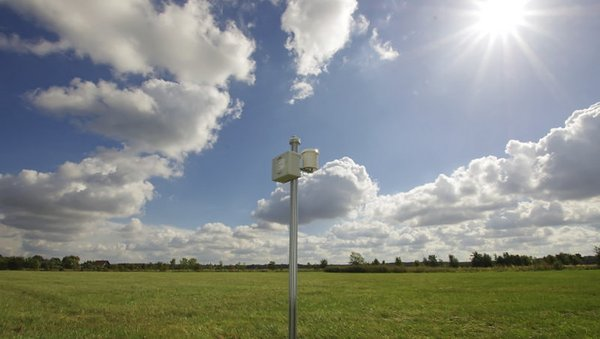 Strahlungsmessungen mit Pyranometern. Foto: Patric Seifert, TROPOS