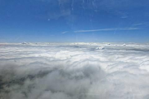 richtig schön ist es über den Wolken… Foto: Birgit Wehner/TROPOS