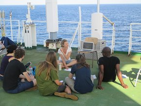 Teaching onboard RV Polarstern in the frame of the NoSoaT training school (The North South Atlantic Training Transect).