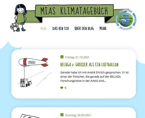 Mias Klimatagebuch. Illustrationen: Simone Lindemann, Universität Leipzig