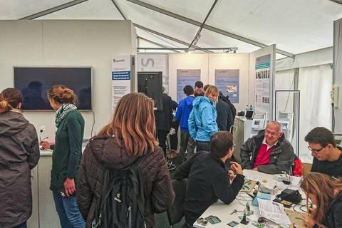 Wissenschaftsmeile: Fraunhofer-Zelt. Foto: Tilo Arnhold, TROPOS