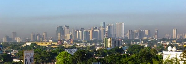 Manila im Smog. Foto: Wolfram Birmili/ TROPOS