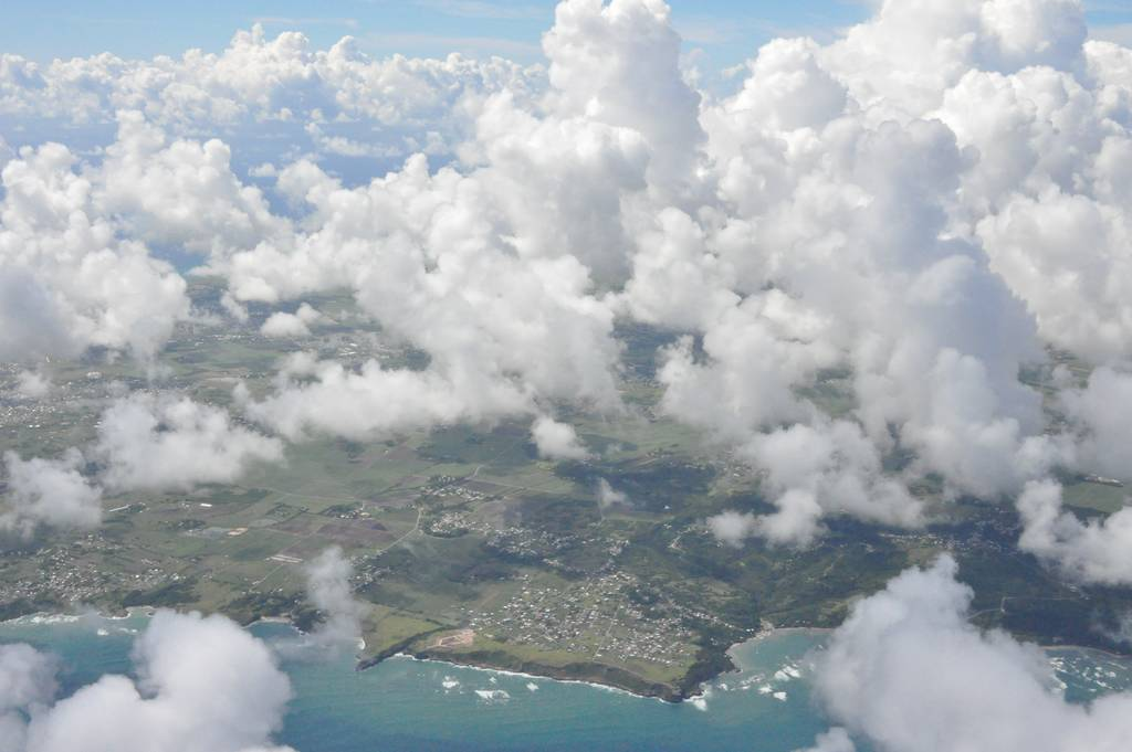 Typical cloud situation over Barbados