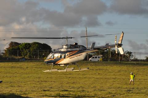 The Bell Long Ranger (National Helicopters, Canada) on Barbados