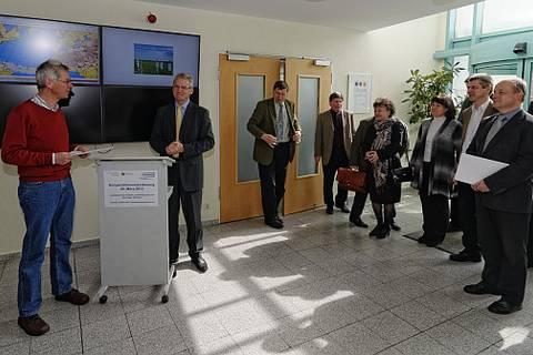 Besuch der Leitung des Sächischen Landesamtes für Umwelt, Landwirtschaft und Geologie (LfULG) am TROPOS. Foto: Tilo Arnhold