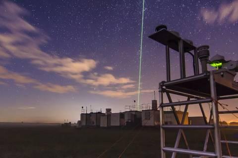 F  Wolken erkunden vom Boden aus per Laser (Foto: Tilo Arnhold, TROPOS)