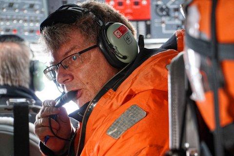 MOSAiC flight campaign from Svalbard. Photo: Stephan Schön, Sächsische Zeitung