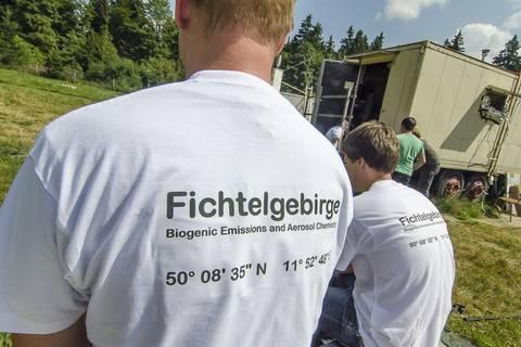 Kampagne F-BEACh 2014 am Waldstein im Fichtelgebirge. Foto: Tilo Arnhold/TROPOS