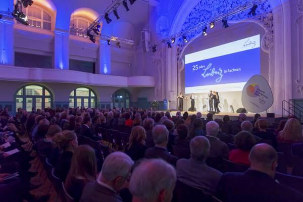 An der Festveranstaltung in der Kongresshalle Leipzig nahmen am 6. Februar 2017 rund 300 Gäste aus Politik, Verwaltung, Wirtschaft und Wissenschaft teil. Foto: Swen Reichold