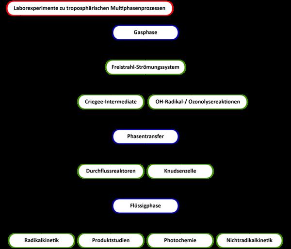 Überblick Laborexperimente zu troposphärischen Multiphasenprozessen