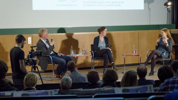 Leibniz debattiert: Sebastian Lentz trifft Rosa Loy (Foto: Tilo Arnhold, TROPOS)