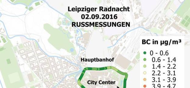 Rußmessungen zur Leipziger Radnacht