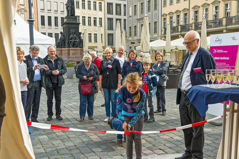 Eröffnung des Leibniz-Zeltes. Foto: Honey Alas, TROPOS