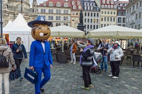 Wissenschaftsmeile auf dem Dresdner Neumarkt. Foto: Gerald Spindler, TROPOS