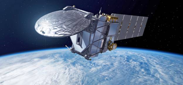 THE EARTHCARE SATELLITE. The Next Step Forward in Global Measurements of Clouds, Aerosols, Precipitation, and Radiation. Bull. Amer. Meteor. Soc., 96, 1311–1332.  (Photo: ESA)