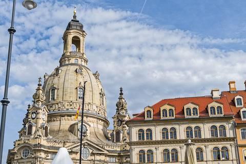 Die Wissenschaftsmeile befand sich direkt gegenüber von Dresdens Wahrzeichen, der Frauenkirche. Foto: Honey Alas, TROPOS