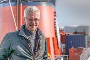 Andreas Macke, Direktor des Leibniz-Instituts für Troposphärenforschung in Leipzig, leitet die Expedition der Polarstern. Foto: Tilo Arnhold/TROPOS