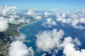 Passat-Cumuluswolken über Barbados. Quelle: Holger Siebert/TROPOS