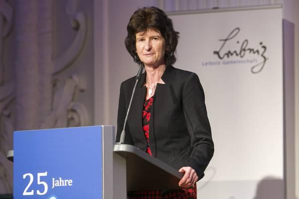 Wissenschaftsministerin Dr. Eva-Maria Stange hat anlässlich des 25jährigen Bestehens sächsischer Leibniz-Institute deren Bedeutung als Säulen des Wissenschaftsstandorts Sachsen gewürdigt. Foto: Swen Reichold