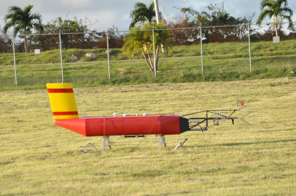 ACTOS before take-off at Grantley Adams Internationa Airport /Barbados
