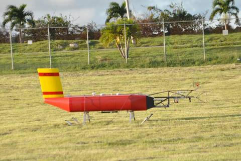 ACTOS before take-off at Grantley Adams Internationa Airport /Barbados