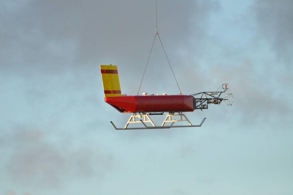 ACTOS after take-off in Barbados