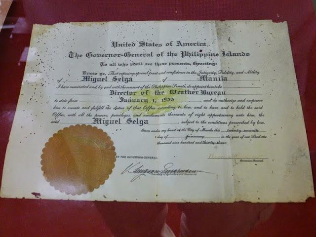 12.05.15: Ernennungsurkunde des Observatoriumsleiters von 1933, mit einer Originalunterschrift des US-Präsidenten Theodore Roosevelt.