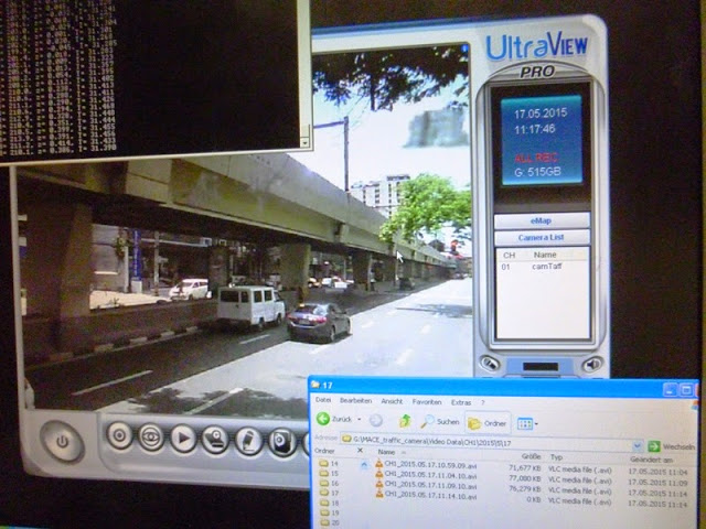 17.05.15: Das Abfilmen des Verkehrsflusses hilft, den Verkehr zu zählen und die Daten zu bewerten.
