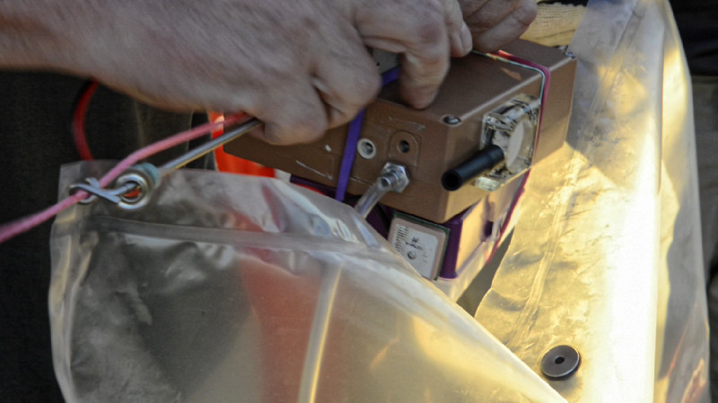 .. bis das nächste Messgerät ins Seil eingehangen wird.
