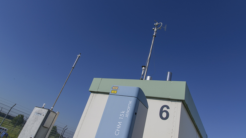 Ein Windlidar liefert Daten, in welchen Höhen der Wind wie stark aus welcher Richtung weht.