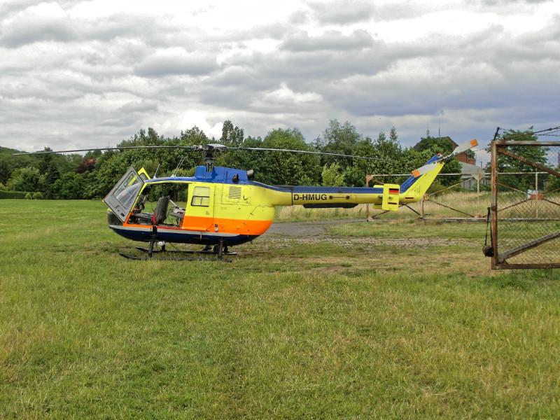 Der Hubschrauber wartet… Foto: Birgit Wehner/TROPOS