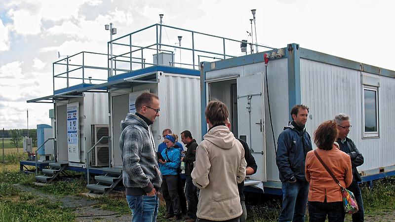 Auch bei den Containern gibt es viel zu sehen.... Foto: Janine Lückerath/ Universität Bayreuth
