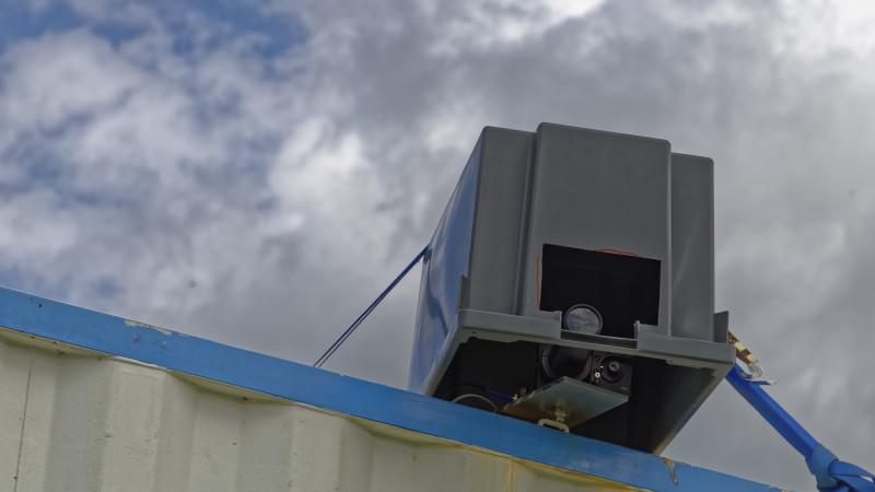Beobachtet auch von vielen optischen Instrumenten - hier das Spectral aerosol extinction monitoring system (SÆMS). Foto: Tilo Arnhold/ TROPOS