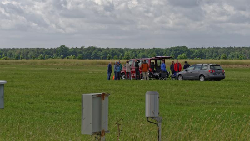 Einer der Anziehungspunkte heute: Die Bodenstation der UAVs um MASC von der Universität Tübingen. Foto: Tilo Arnhold/ TROPOS