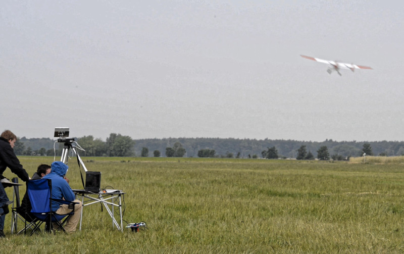 Kurz darauf hebt ALADINA zum nächsten Messflug ab. Foto: Tilo Arnhold/TROPOS