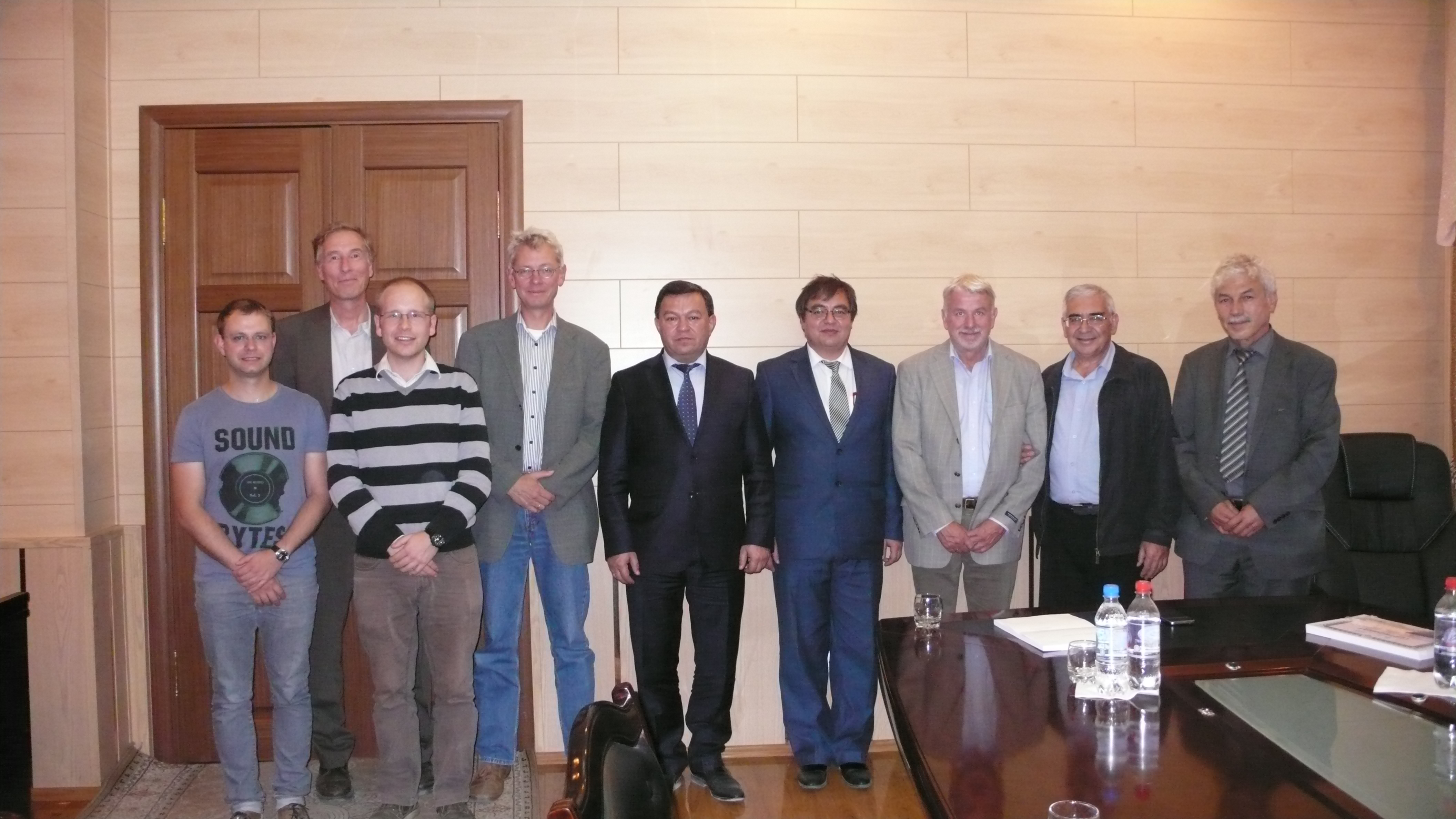 Meeting with the president of the Academy of Sciences of Tajikistan, Prof. Dr. Farhod Rahimi. The scientists discussed the CADEX project and possible further cooperations.