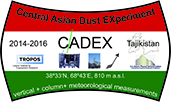 CADEX (Central Asian Dust Experiment)