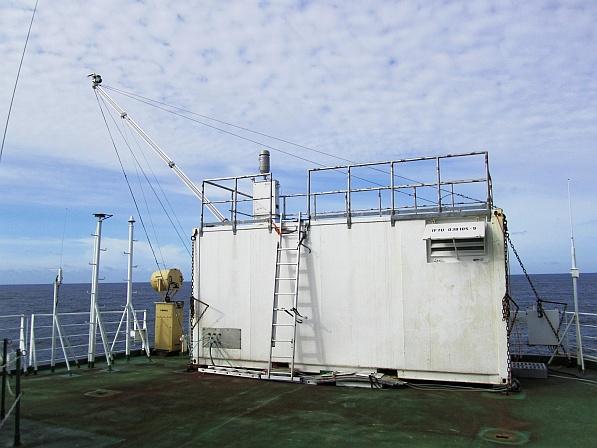 Aerosolpartikelsammler an Bord der Polarstern. Foto: Khanneh Wadinga Fomba / TROPOS