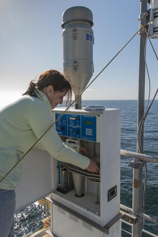 Archivbild: Luftprobennahme auf Polarstern-Fahrt PS83