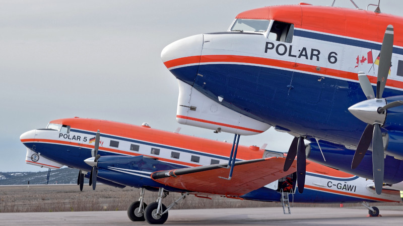 Polar 5 and 6 of AWI. Photo: Alfred Wegener Institute/Raimund Waltenberg