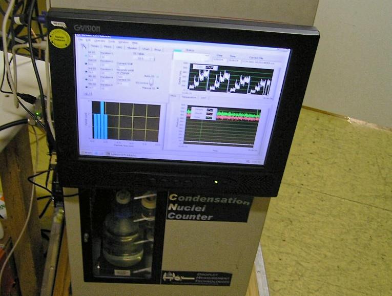 Cloud Condensation Nuclei counter (CCNc, Wolkenkeimzähler) an BELATMOS. Foto: Alexander Mangold /RMI